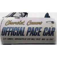 1967 Camaro Indy 500 Offical Pace Car Door Decals  Pair