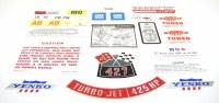 1969 Camaro Yenko Decal Kit 427-450 HP With 4 Speed Transmission