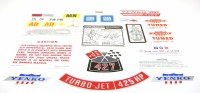 1969 Camaro Yenko Decal Kit 427-450 HP With 4 Automatic Transmission
