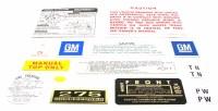 1968 Camaro Convertible Decal Kit 327-210 HP