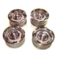 67 68 69 Camaro Rally Wheel Kit 14 x 6 w/Flat Style Center Caps