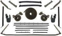 1968 1969 Camaro & Firebird Convertible Weatherstrip Kit 22 Piece For Standard Interior  Complete Kit OE Style  Made In The USA!
