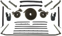 68 Camaro  Convertible Weatherstrip Kit w/Std Interior & Belt Moldings