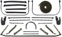 1967 Camaro & Firebird Convertible Latex Weatherstrip Kit 24 Piece For Standard & Deluxe Interior Complete Kit Superior Quality  Made In The USA!
