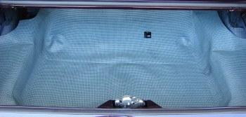 1968 Camaro & Firebird Molded Rubber Trunk Mat OE Quality!  Aqua & Black