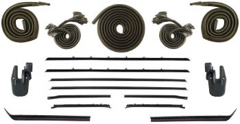 68 69 Camaro & Firebird Coupe Weatherstrip Kit w/Deluxe Interior