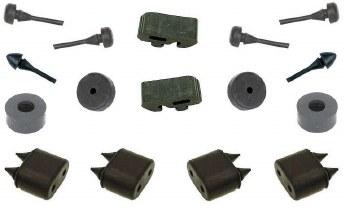 67 68 69  Camaro & Firebird Rubber Body Bumper Kit 16 Piece Kit  USA