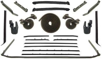 68 Camaro  Convertible Weatherstrip Kit w/Std Interior & Belt Moldings
