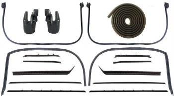 68 69 Camaro & Firebird Coupe Latex Weatherstrip Kit w/Std Interior