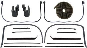 68 69 Camaro & Firebird Coupe Latex Weatherstrip Kit w/Deluxe Interior