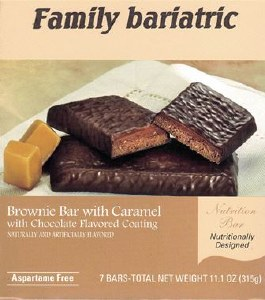 Bar Brownie with Caramel