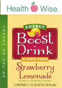 Boost Energy Straw. Lemonade