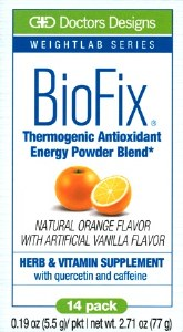BioFix Energy Orange Vanilla