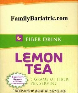 HW Fiber Lemon Tea Drink