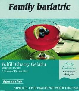 Fulfill Cherry Gelatin 10/Box