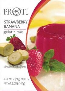 Proti 15 Straw Banana Gelatin