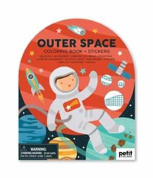 Coloring Book w Stickers Space