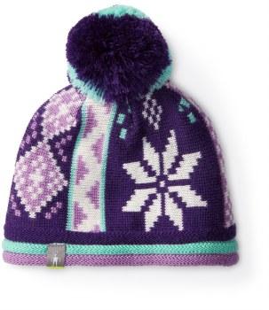 Snowflake Beanie Purple L/XL