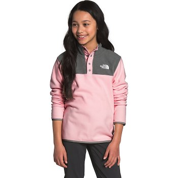 Youth Glacier 1/4 Snap Pullover Pink Salt XXS