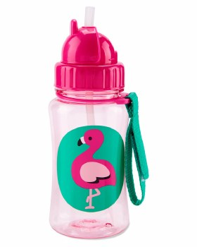 Straw Bottle Flamingo