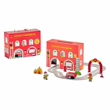 Wind Up and Go Playset Firehouse