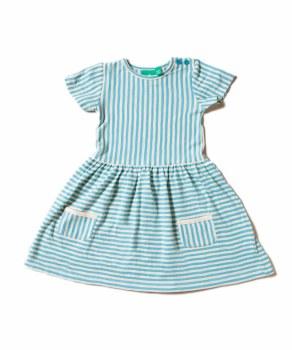 Corn Blue Stripe Dress 12-18m