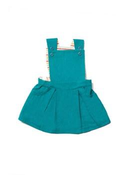 Pinafore Dress Emerald 3-4Y