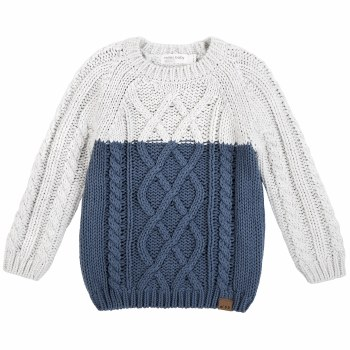 Cable Knit Sweater Blue 2T