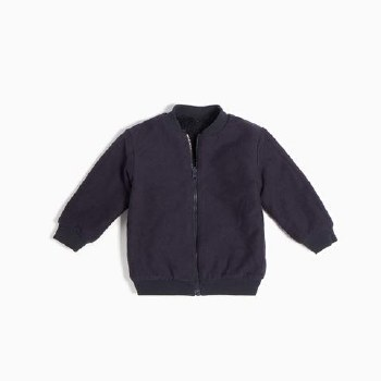 Navy Knit Reversible Jacket 3