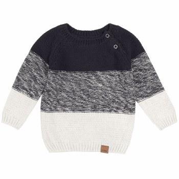 Navy Knit Block Sweater 6/7Y
