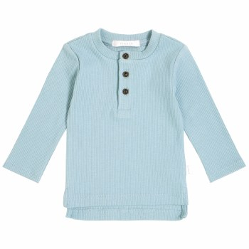Henley Knit Top Teal 9m