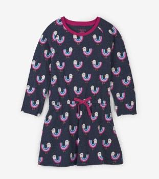 Drop Waist Dress Birds 5