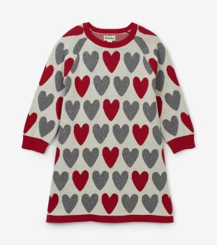 Festive Heart Sweater Dress 3