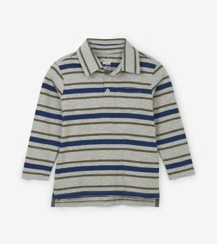 Polo Tee Grey Stripe 2T