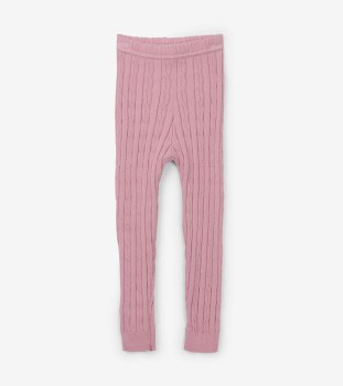 Pink Cable Knit Legging 12-24m