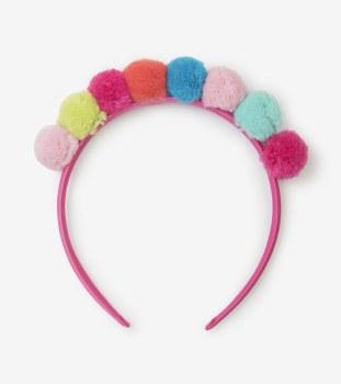 Pom Pom Crown Headband
