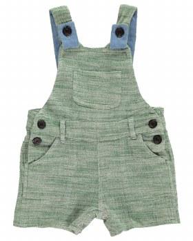 Green Shortie Overalls 6-12m