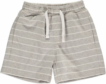 Grey/White Stripe Shorts 2-3y