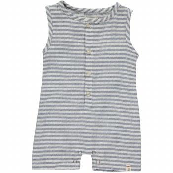 Blue Stripe Woven Playsuit 0-3