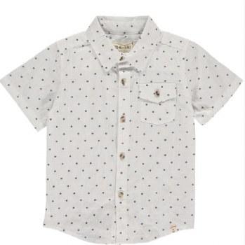 Navy Dots Shirt 2-3y