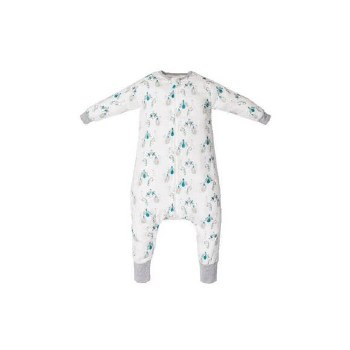 Bamboo Sleep Suit Peacock Small