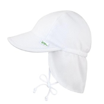 Breatheasy Flap Hat White 0-6m