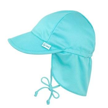 Breatheasy Flap Hat Aqua 0-6m