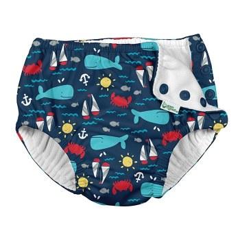 Swim Diaper Navy Whale 4T