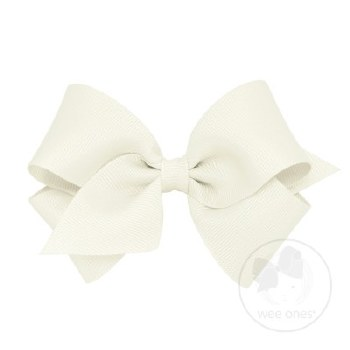 Small Grosgrain Bow Antique White