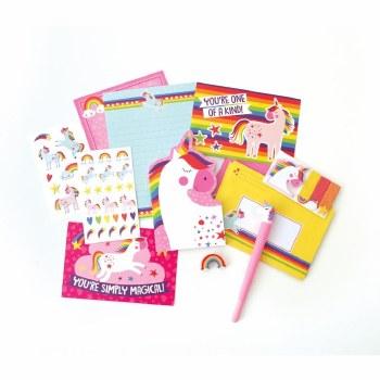 Rainbow Unicorn Stationery Set