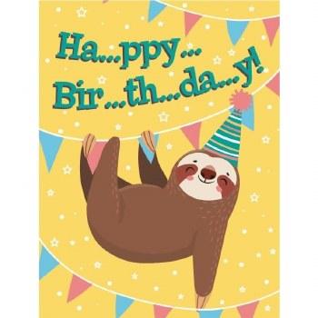 Birthday Sloth Gift Enclosure