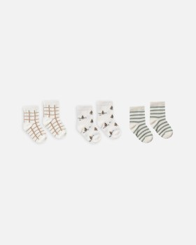 Ankle Sock Set Bronze 0-6m