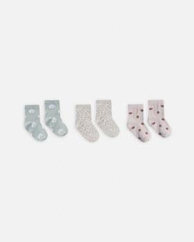 Ankle Sock Set Daisy 0-6m