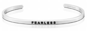 MantraBand Silver Fearless